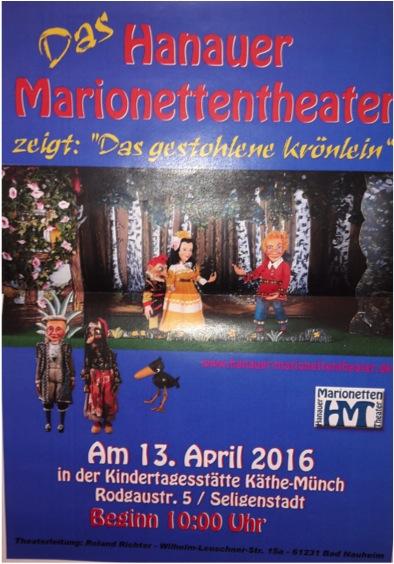 Hanauer Marionettentheater in der Kita Käthe Münch